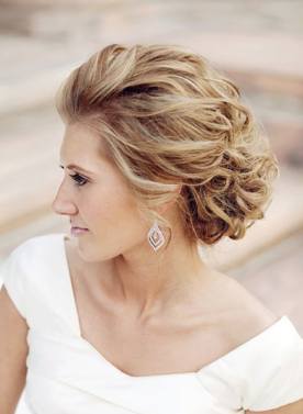 Love this slicked-back look from bridalguide.com