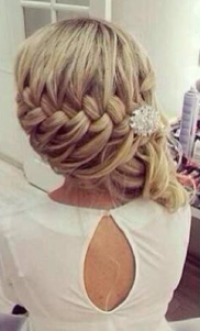Glam it up. Love the large, loose braid feature via prettydesigns.com
